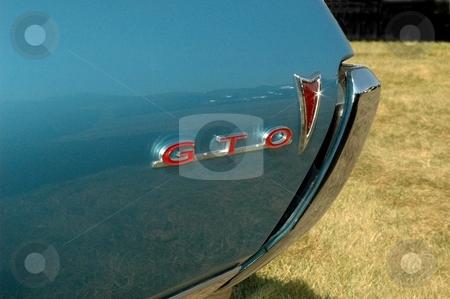 68 GTO Rear Corner Blue  stock photo, The 68 had the GTO on the back. by Joe Shortridge