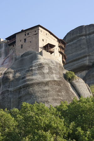 Meteora travel stock photo, View of the meteora monasteries monuments travel destination in greece by Ivan Montero