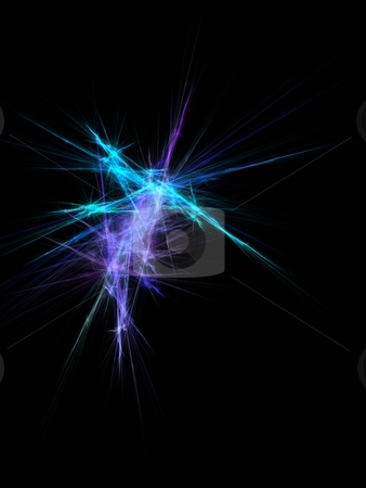 Fractal abstract stock photo, Background abstract composition rendered fractal with lines and blurs by Ivan Montero