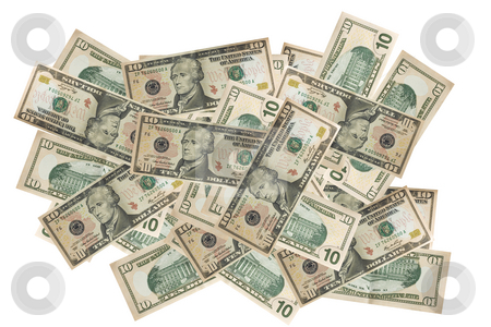 Currency dollar finances background stock photo, Close up of a bank note of ten north american dollars by Ivan Montero