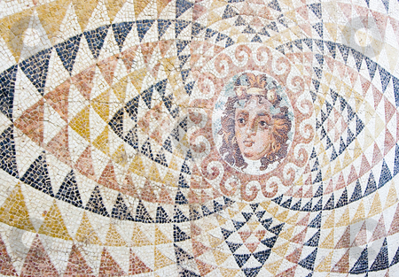 Greek mosaic stock photo, Ancient mosaic discovered in greece by Ivan Montero