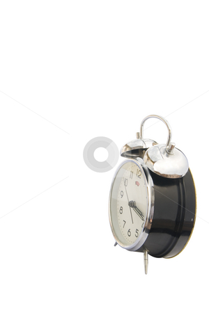 Time concept isolated stock photo, Isolated vintage classic alarm clock bell on a white background. Time concept by Ivan Montero