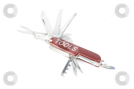 Marketing red swiss army pocket knife tool stock photo, Iconic pocket knife of the swiss army. lots of uses for designers by Ivan Montero
