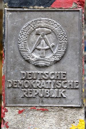 GDR boundary-post stock photo,  by Stefan Franz