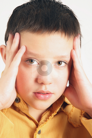 Teenager stock photo, This teenager has some problem in is head... by Tom P.