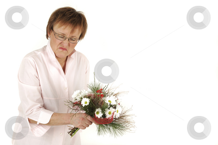 I Don't like it stock photo, Lady is in bad mood because of the present by Tom P.