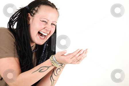 Laughing stock photo, Young woman is laughing by Tom P.
