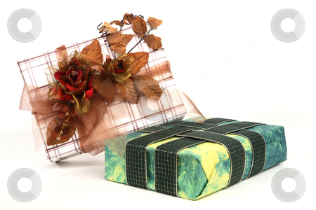 Christmas presents stock photo, Christmas presents with various decoration by Tom P.