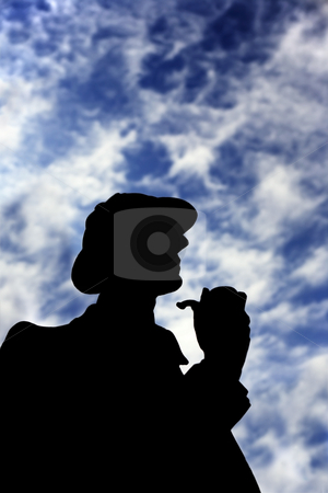 Sherlock Holmes stock photo, Silhouette of Sherlock Holmes taken on Oxford street by Tom P.