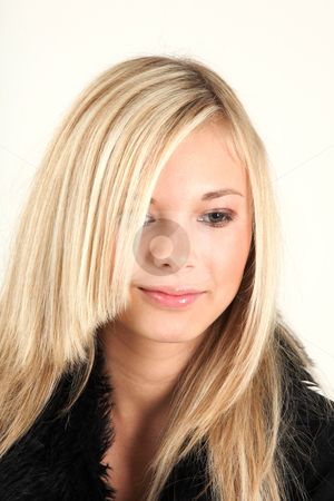 Teenage girl  stock photo, Teenager is looking forward to see her friend by Tom P.