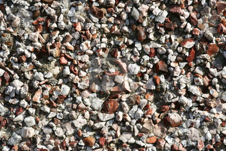 Pebbledash Render stock photo, Small stone chips embedded in concrete in an effort to disguise/beautify it! by Helen Shorey