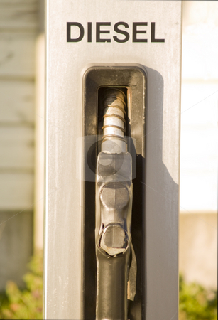 Service Station - Diesel Fuel nozzle with space to copy stock photo, Service Station - Diesel Fuel nozzle with copy space by Phillip Dyhr Hobbs