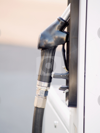Service Station - Diesel Fuel nozzle with copyspace stock photo, Service Station - Diesel Fuel nozzle by Phillip Dyhr Hobbs