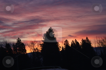 Sun rise stock photo, Sun Rise in montana by Larry Stolle