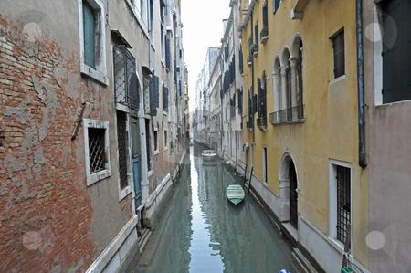 Venice canal stock photo, Canal in Venice Italy by Jaime Pharr