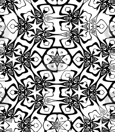 Grunge christmas pattern stock photo, Texture of drawn black and white stars motive by Wino Evertz