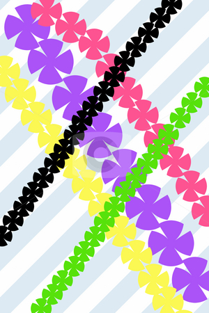 Abstract garland pattern stock photo, Texture of abstract diagonal bright colored garlands by Wino Evertz