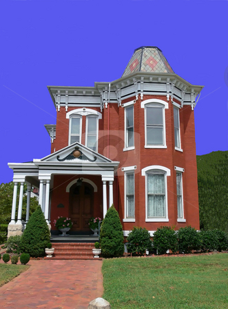 Old Victorian house  stock photo, An old, very nice kept Victorian house in the south of the USA. by Horst Petzold