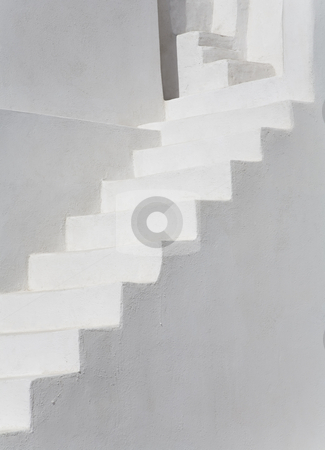 White Stairs stock photo, White stairs, Santorini, Greece, Europe by mdphot
