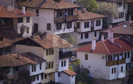 City view old houses stock photo, City view with old houses Veliko Turnovo Bulgaria by Desislava Dimitrova