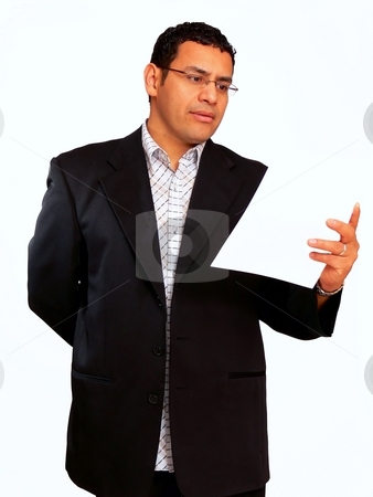 Businessman   stock photo, A businessman has an presentation for his sales people over an new product. by Horst Petzold