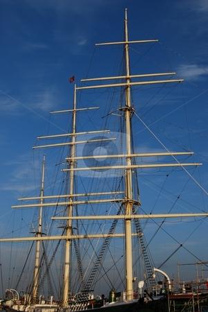 Wodden Mast stock photo, Historical wooden mast, Hamburg Germany by Diana Hartmann