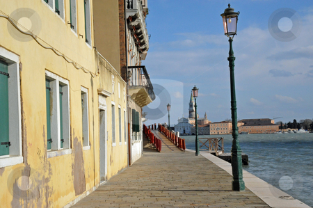 Venice quay stock photo, Quay along south side of Dorsoduro, Venice by Jaime Pharr