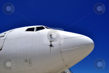 Airplane nose stock photo, Cockpit of a jet airliner by Fernando Barozza