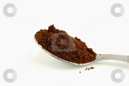 Close-up of spoon full of coffee powder stock photo, Close-up of spoon full of coffee powder by ALESSANDRO TERMIGNONE