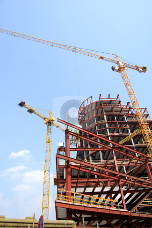 Construction  stock photo, Construction of parking and business center by Leyla Akhundova
