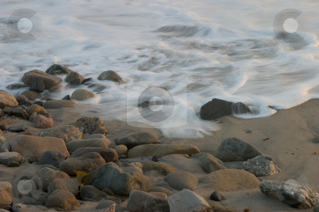 Ocean Tides stock photo, A view of the shoreline at Point Mugu State Park, California by Rick Parsons