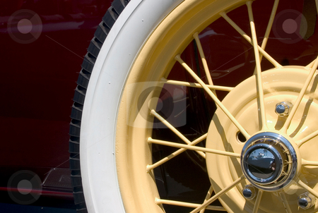 Vintage stock photo, Classic Car Close-Up, spare wheel by Rick Parsons