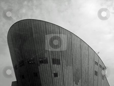NEMO museum, Amsterdam stock photo, Black and white image of NEMO museum in Amsterdam Netherlands by Jaime Pharr