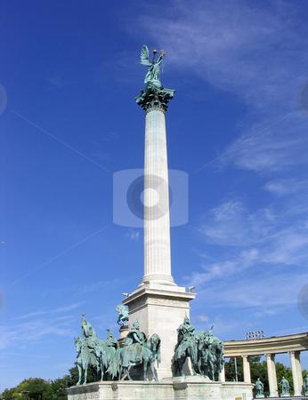 Millenial Monument in Hero's Square stock photo, Millenial Monument Hero's Square, Budapest Hungary by Jaime Pharr