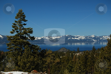Spring in Lake Tahoe stock photo, A view of Lake Tahoe from Kingsbury Grade. by Steven Kapinos