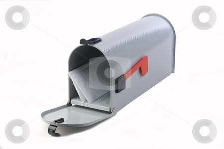 Mailbox stock photo, Open mailbox with some letters in it by Jonathan Hull