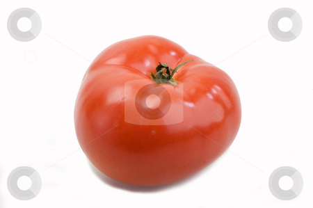 Tomato stock photo, A red, fresh , juicy tomato isolated on white by Jonathan Hull