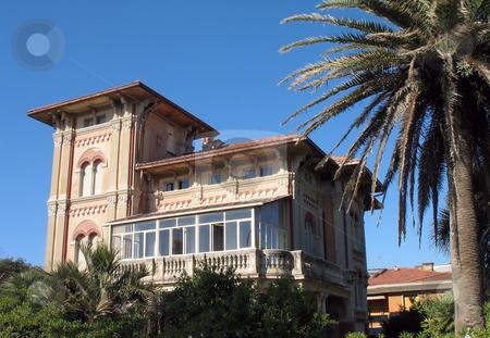 Villa nera the sea stock photo, An old villa near the sea in Tuscany, Italy by Roberto Marinello