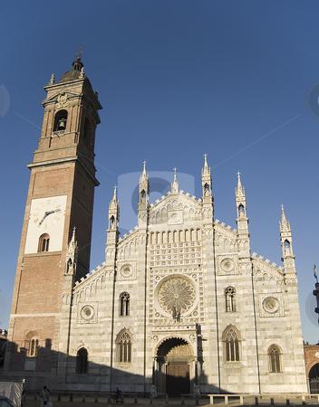 Duomo of Monza stock photo, Duomo of Monza facade in a sunny late afternoon by Roberto Marinello