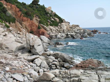 Arbatax Sardinia stock photo, A view of the sea and the rocks. Arbatax, Sardinia, Italy by Roberto Marinello