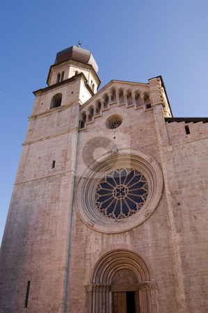 Cathedral of San Vigilio Duomo of Trento stock photo, The twelfth-thirteenth century Cathedral of San Vigilio, Duomo of Trento, Italy by Roberto Marinello