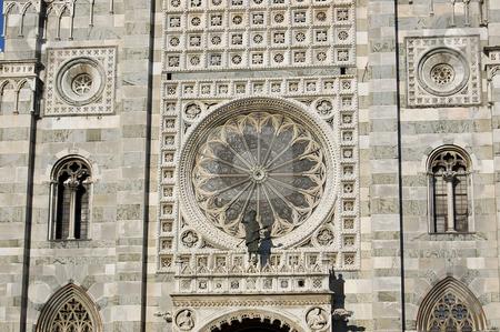 Duomo of Monza facade stock photo, Duomo of Monza facade details in a sunny late afternoon by Roberto Marinello