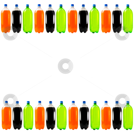 Soda Bottle Background stock photo, A bunch of soda bottles isolated on a white background. by Travis Manley