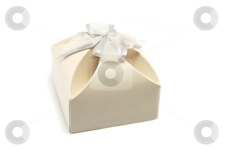 Gift Box stock photo, Neat little gift box, often used for wedding favours by Helen Shorey