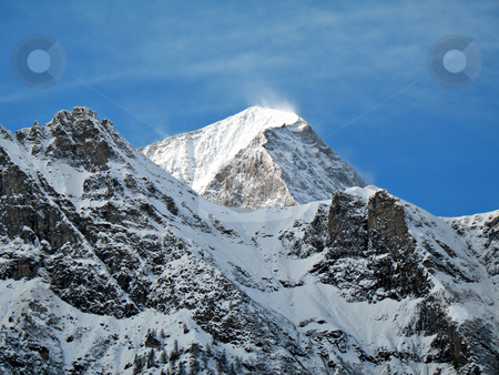 Over 3000 meters peak stock photo, Monte Leone, Valle Ossola, Italy, 3552 mt. winter windy landscape by Roberto Marinello