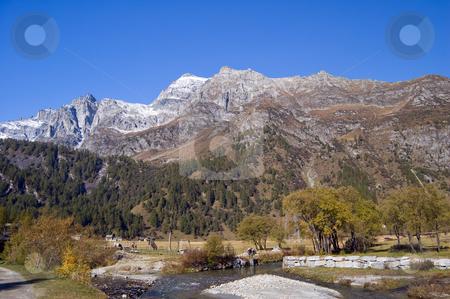 Alpe Devero alpine landscape stock photo, Alpe Devero natural park in the Alps, Piemonte, Italy by Roberto Marinello