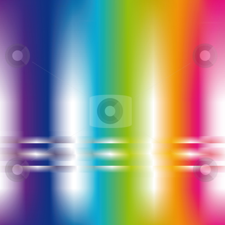 Abstract background in rainbow colors stock vector clipart, Square abstract background in pastel rainbow colors by Karin Claus