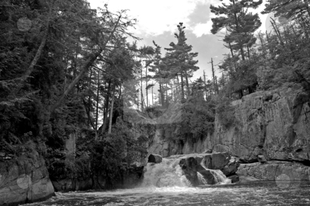 Au Sable Falls stock photo,  by Andrew Kauffman