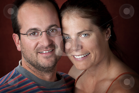 Attractive Couple stock photo, Closeup portrait of an attractive young couple by Scott Griessel