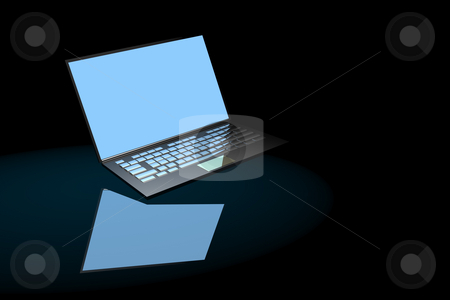 Notebook stock photo, Notebook computer with bright screen by Ira J Lyles Jr
